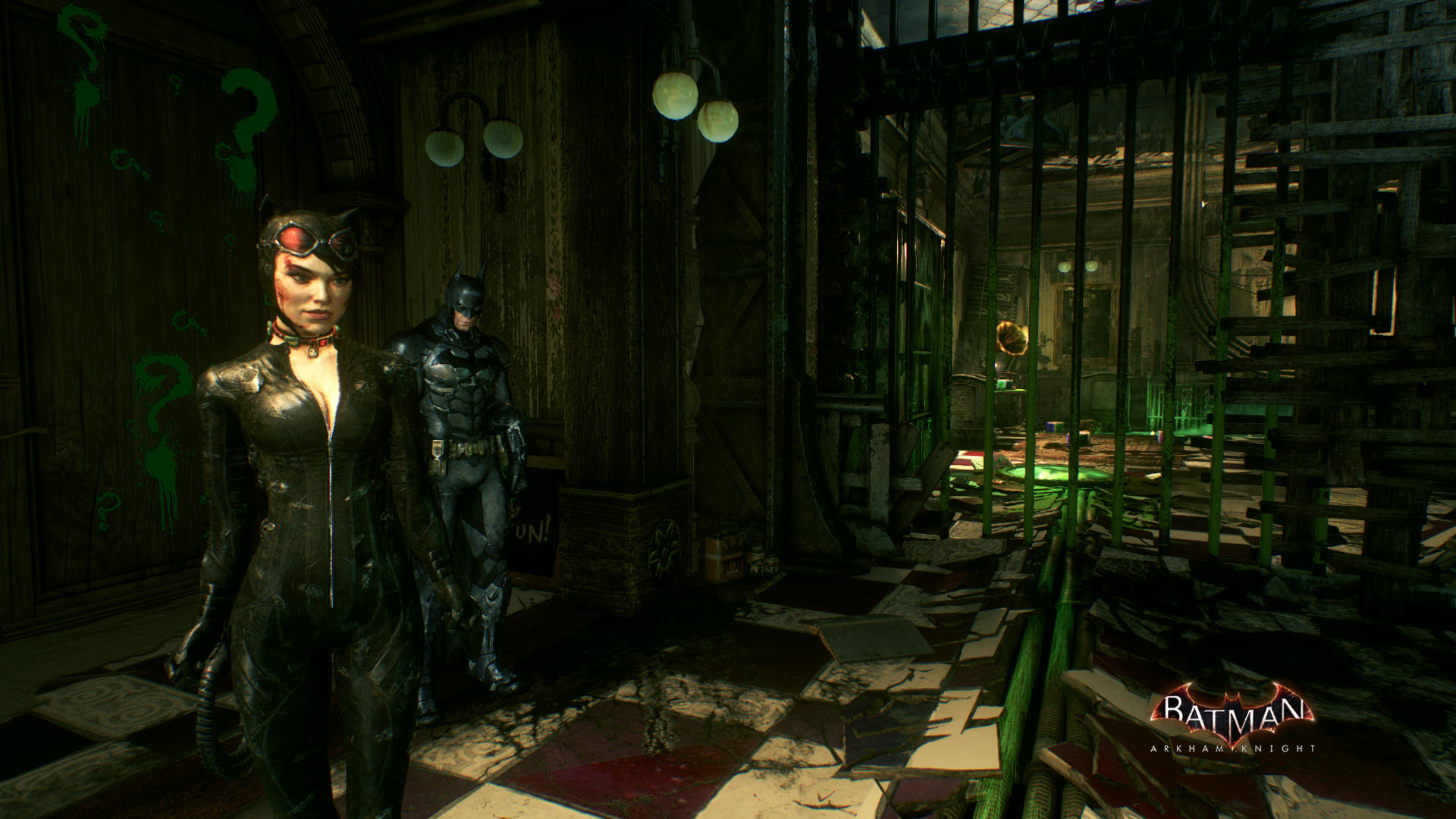 Batman and Catwoman together