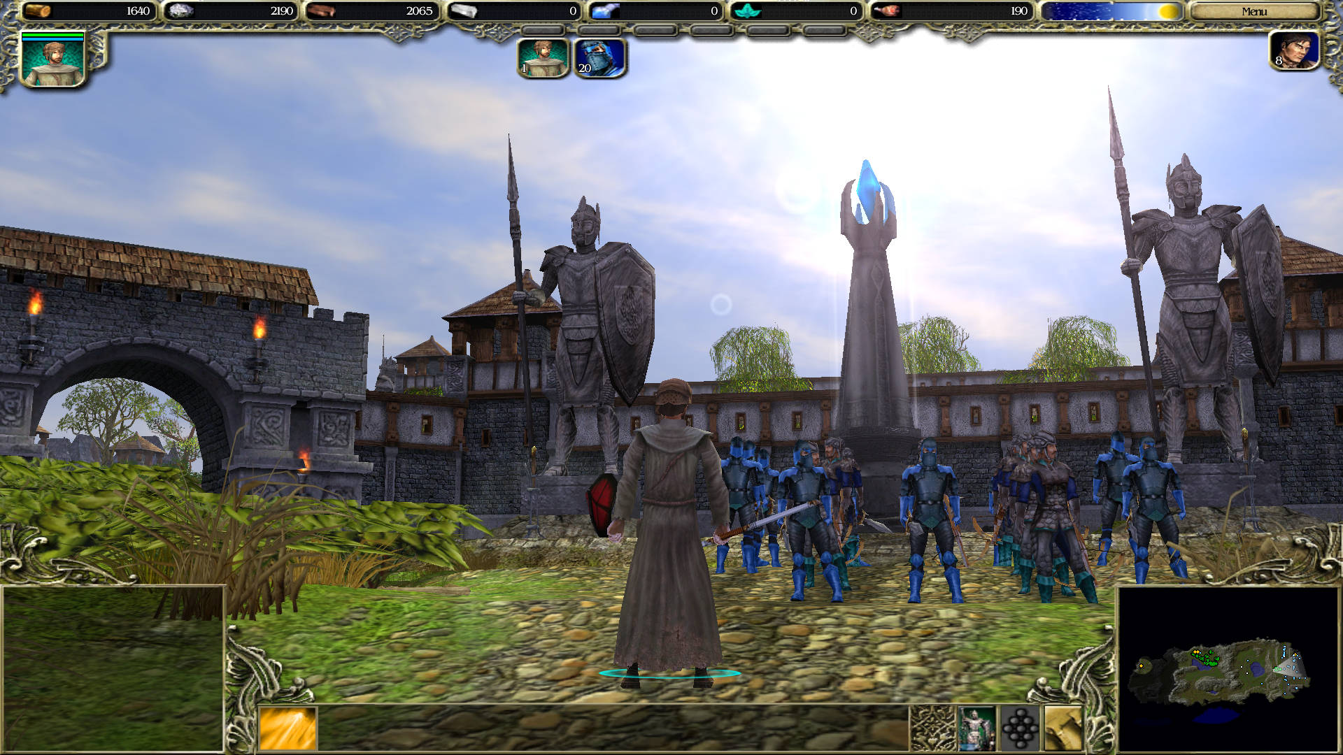 The hero with his army outside Greyfell