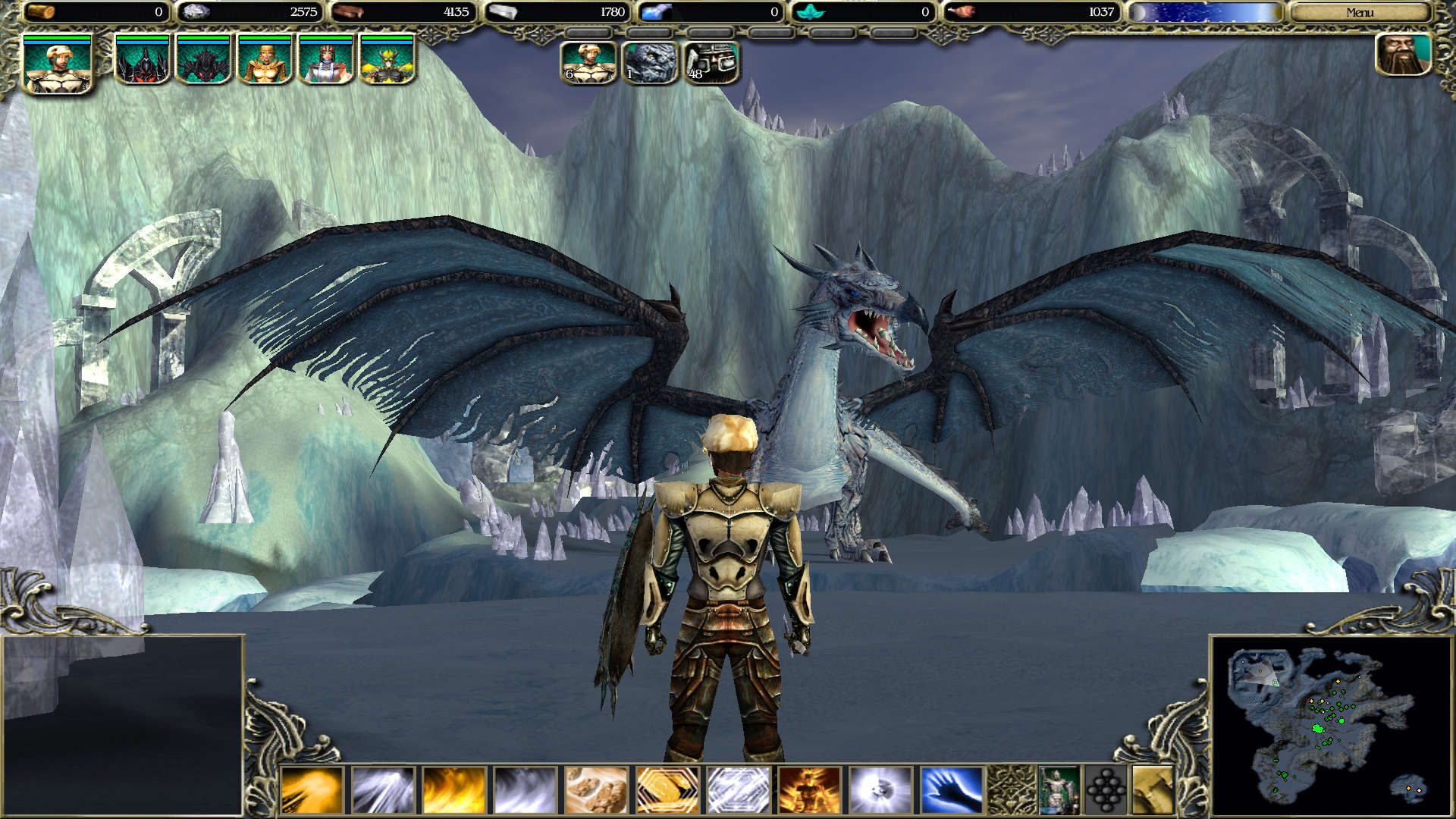 Standing before the Ice Dragon Aryn